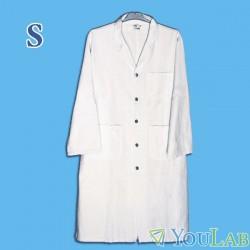 Blouse blanche de laboratoire 100% coton - S